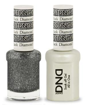DND Gel Lacquer 407 Black Diamond
