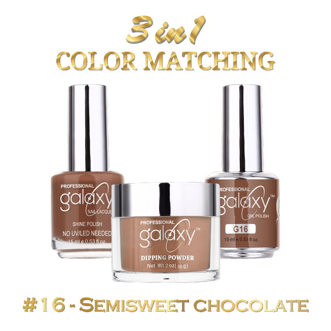 Galaxy 3 in 1 - Semisweet Chocolate 16